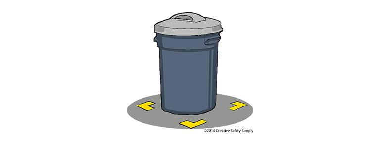 Bantlanmış Çöp kovası