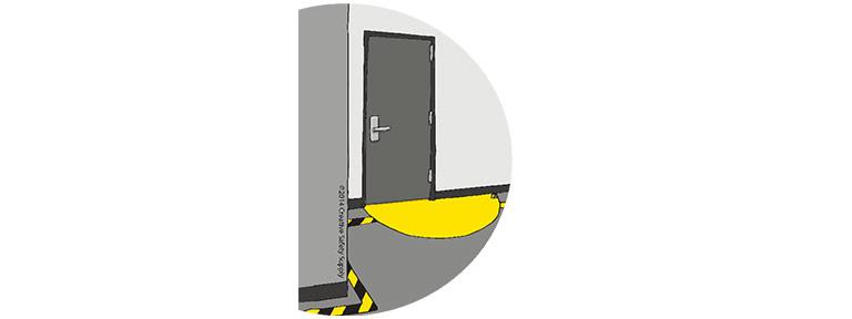 Bantlanmış kapı yüzük alanı