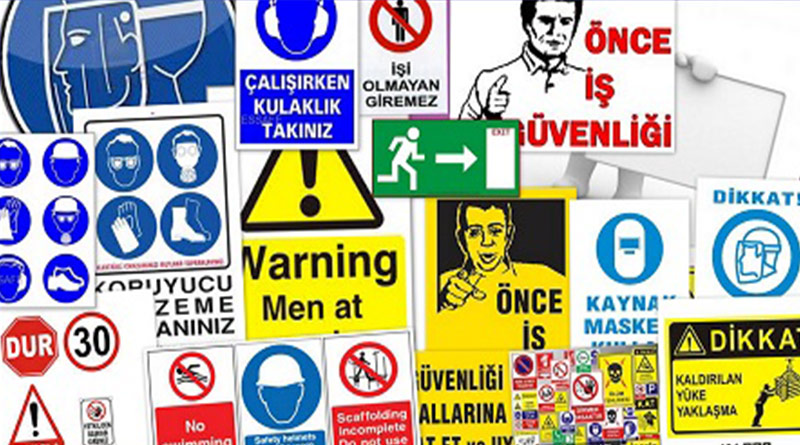 Sağlık ve Güvenliği işaretleri